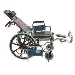 Хромирана разтегателна инвалидна количка