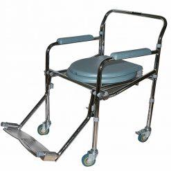 Комбиниран сгъваем инвалиден стол за баня и тоалетна