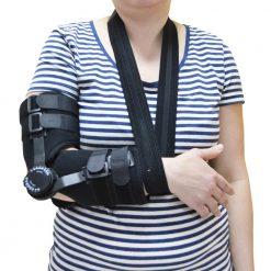 Поддържаща шина за ръка с градуси при травма