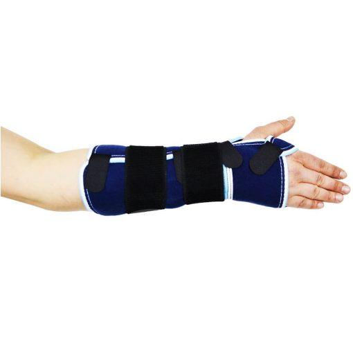 Дълга ортеза за ръка с твърда шина за опора