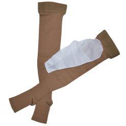 Дълги чорапи за разширени вени с отворени пръсти