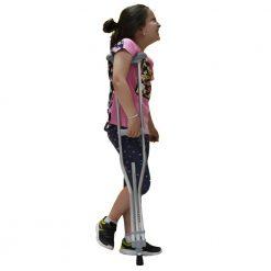 Патерица за деца от алуминий с регулиране височината