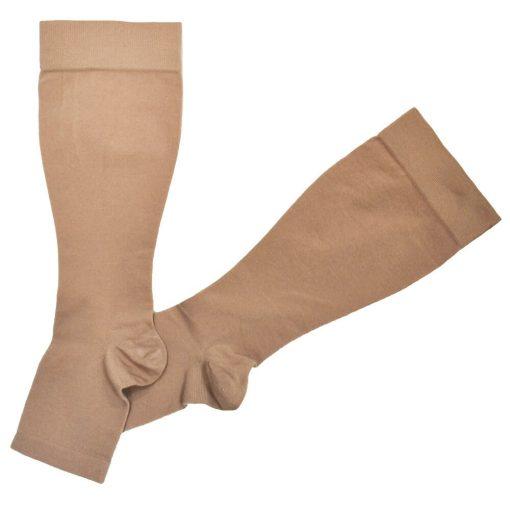 Компресивни чорапи до коляното-отворени пръсти