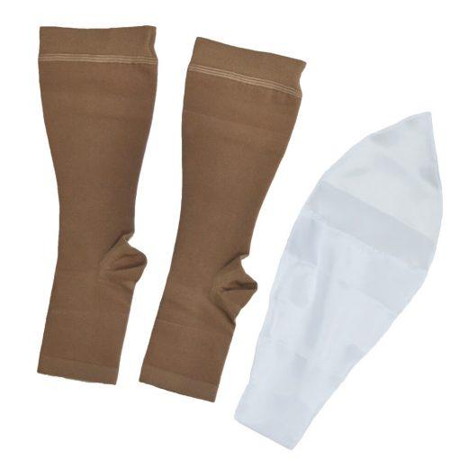 Къси компресивни чорапи с отворени пръсти