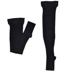 Втора компресия чорапи с отворени пръсти