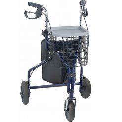 Ролатор с 3 колелца кошница и чанта