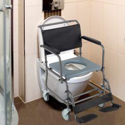 Тоалетен стол на колела с гърне