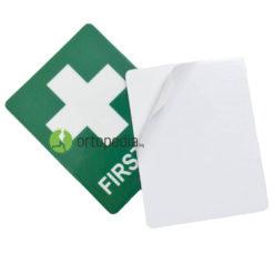 Стикер първа помощ със зелен кръст
