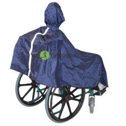 Дъждобран за инвалидна количка с козирка