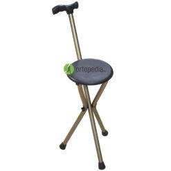 Алуминиев бастун със седалка-сгъваем